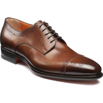 Santoni Ironside Cap Toe Derby, Brown