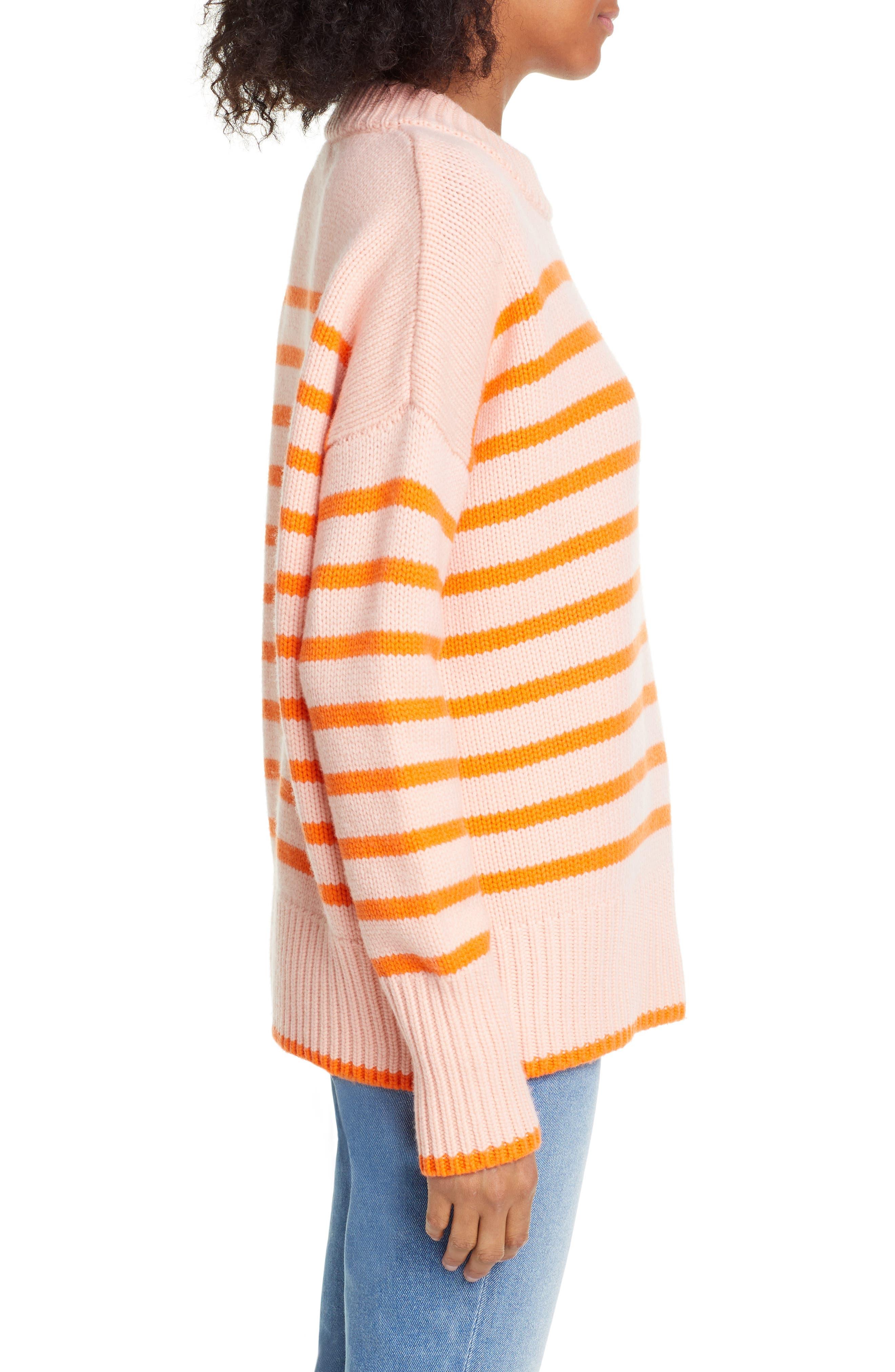 ,                             Marin Wool & Cashmere Sweater,                             Alternate thumbnail 3, color,                             PEACH/ ORANGE
