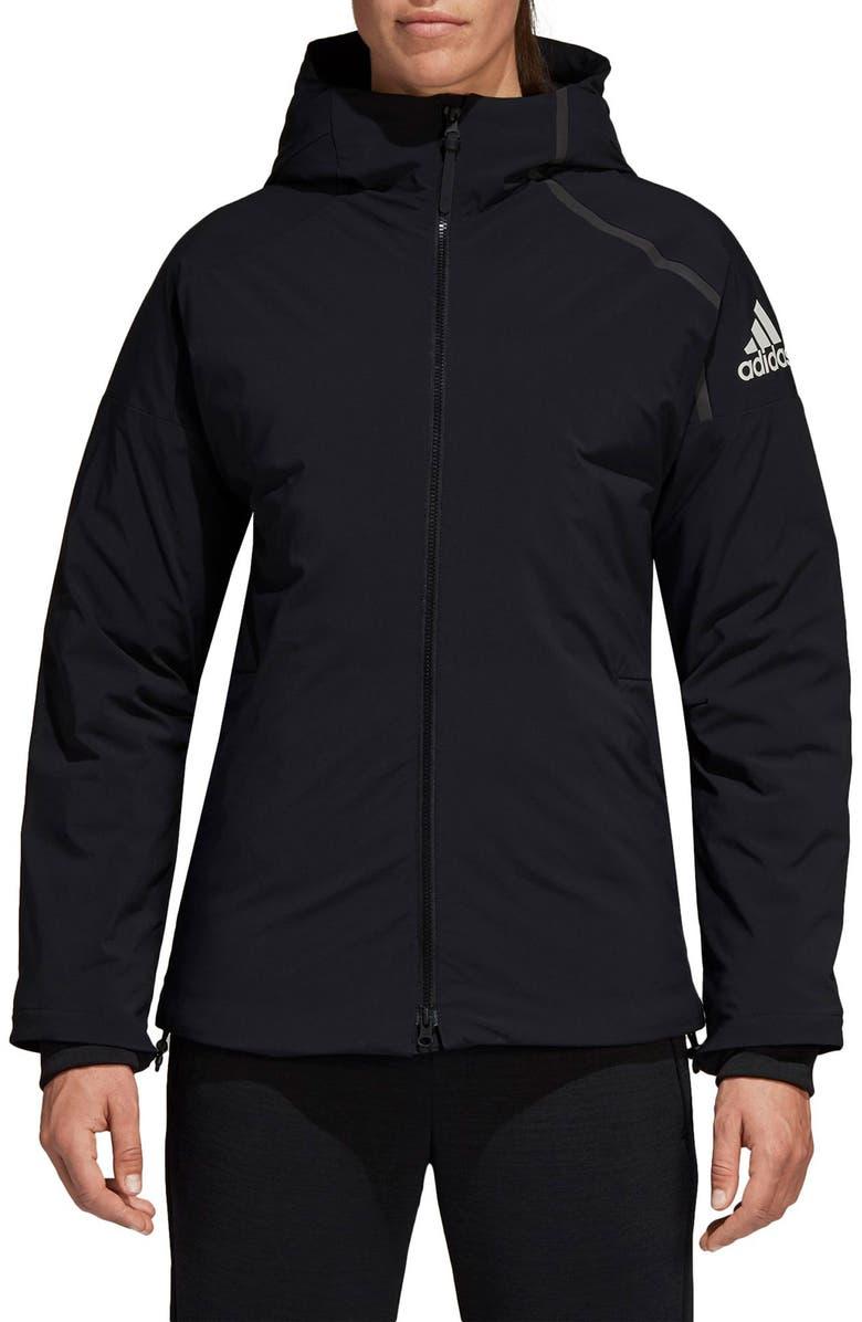 ADIDAS Rain Jacket, Main, color, 001