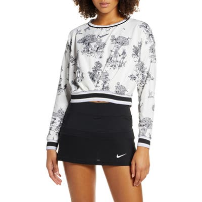 Nike Court Dri-Fit Cropped Crewneck Pullover