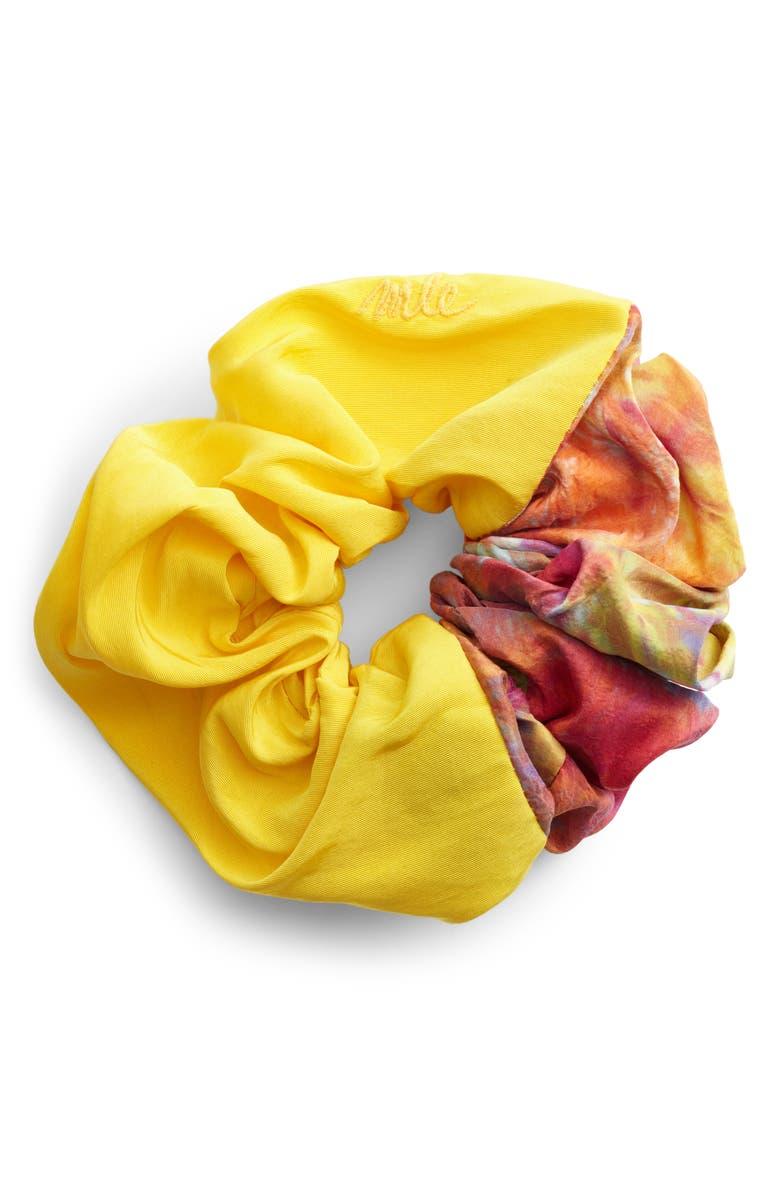 MLE Paradise Colorblock Silk Scrunchie, Main, color, TIE-DYE