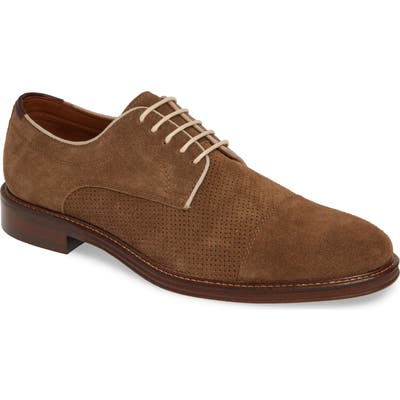 Johnston & Murphy Warner Cap Toe Derby- Brown