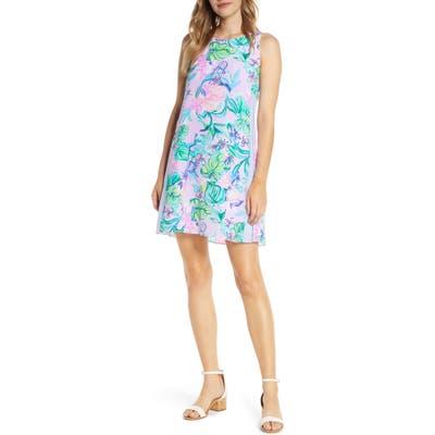 Lilly Pulitzer Jackie Silk Shift Dress, Purple