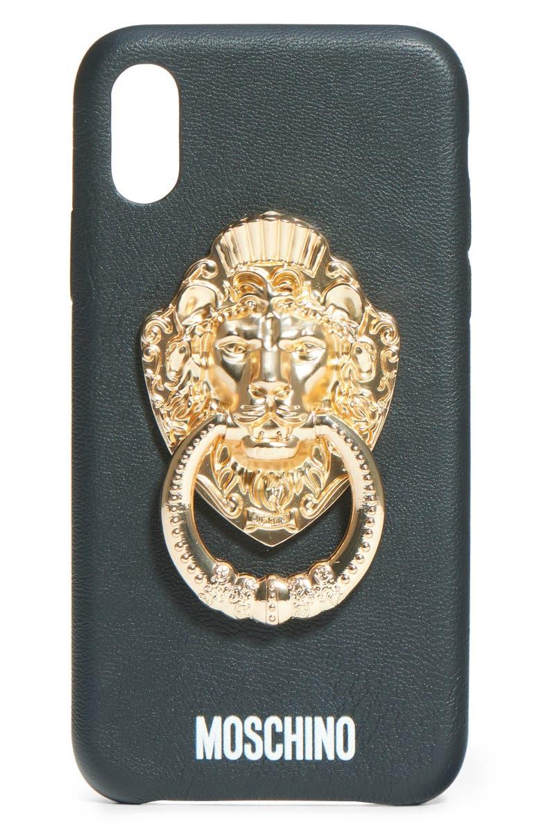MOSCHINO Door Knocker iPhone X/Xs Case, Main, color, 001