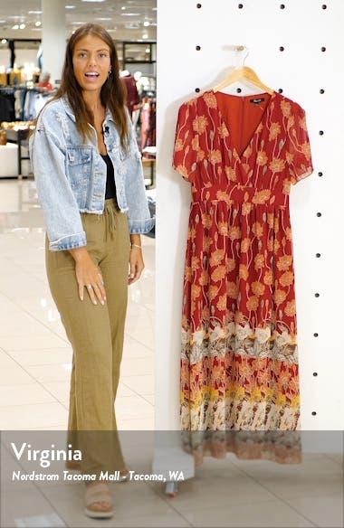 Tall Sunflowers Tulip Sleeve Maxi Dress, sales video thumbnail