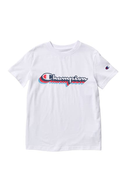 Image of Champion Retro Script Short Sleeve T-Shirt