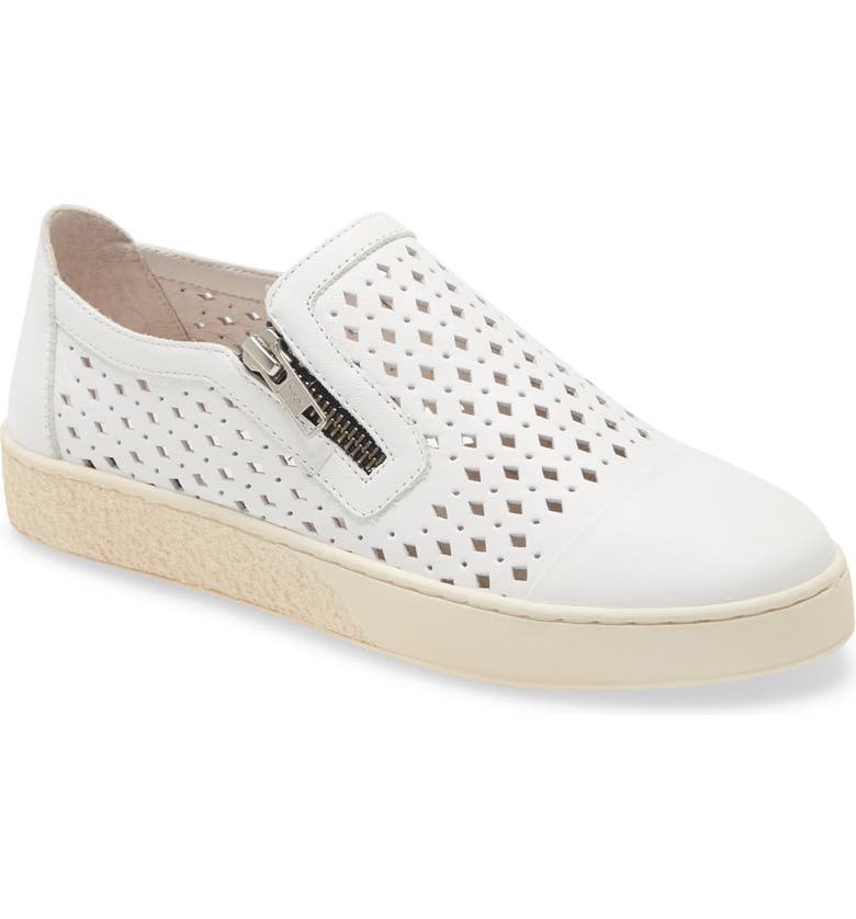 CHOCOLAT BLU Nika Sneaker, Main, color, WHITE LEATHER