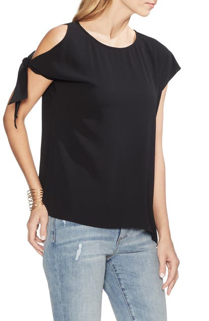 Vince Camuto Tops SINGLE COLD SHOULDER TIE SLEEVE TOP