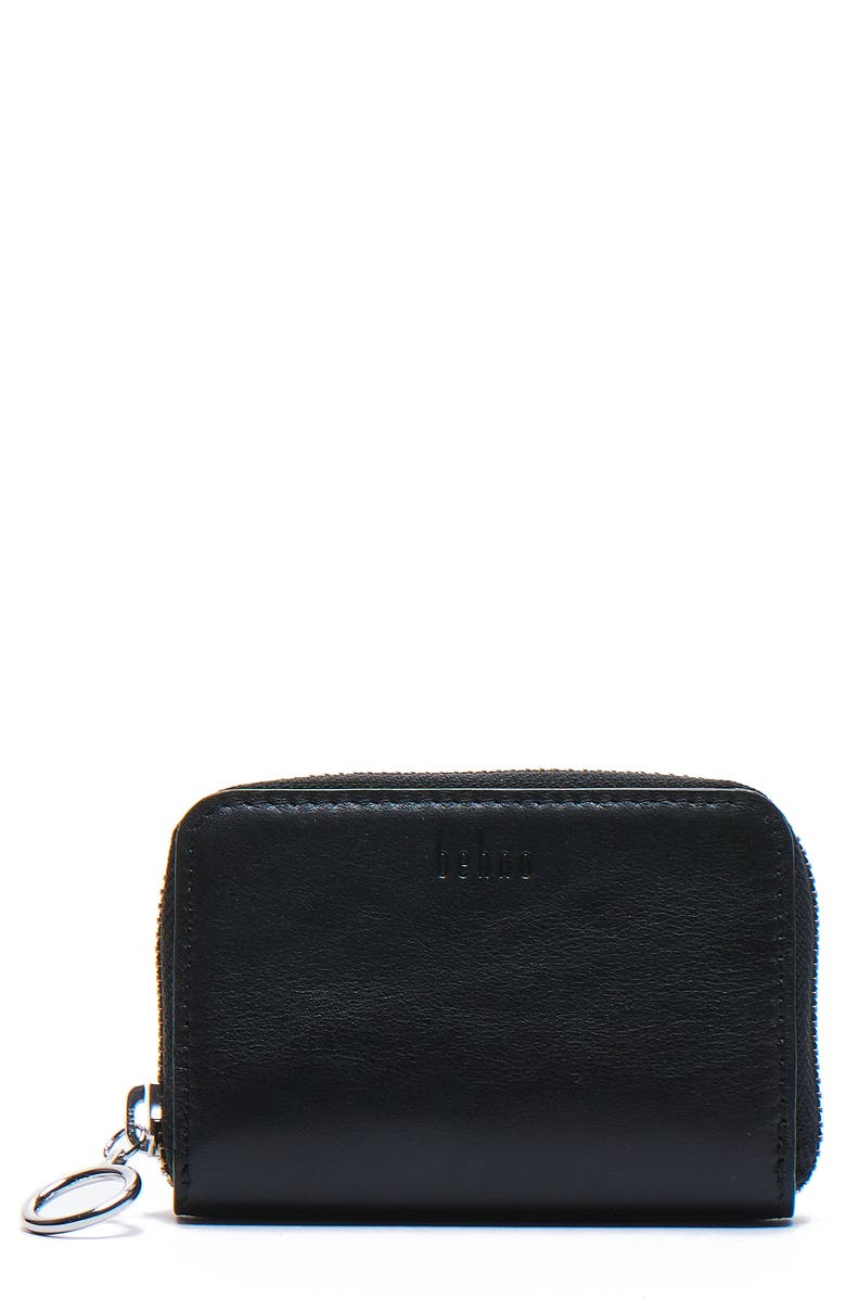 BEHNO Devon Nappa Leather Wallet, Main, color, BLACK
