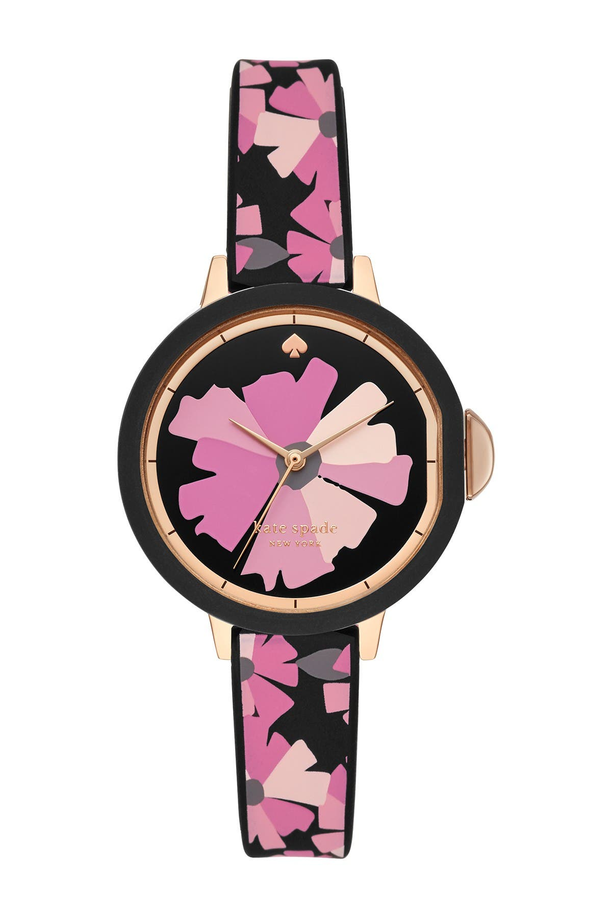 Image of kate spade new york women's park view silicone strap watch, 34mm