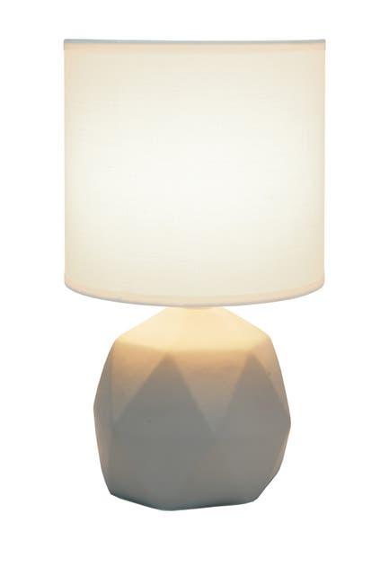 Image of LALIA HOME Simple Designs Geometric Concrete Lamp - White