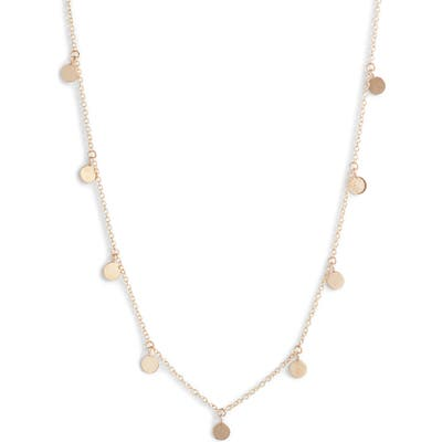 Zoe Chicco Itty Bitty Disc Necklace