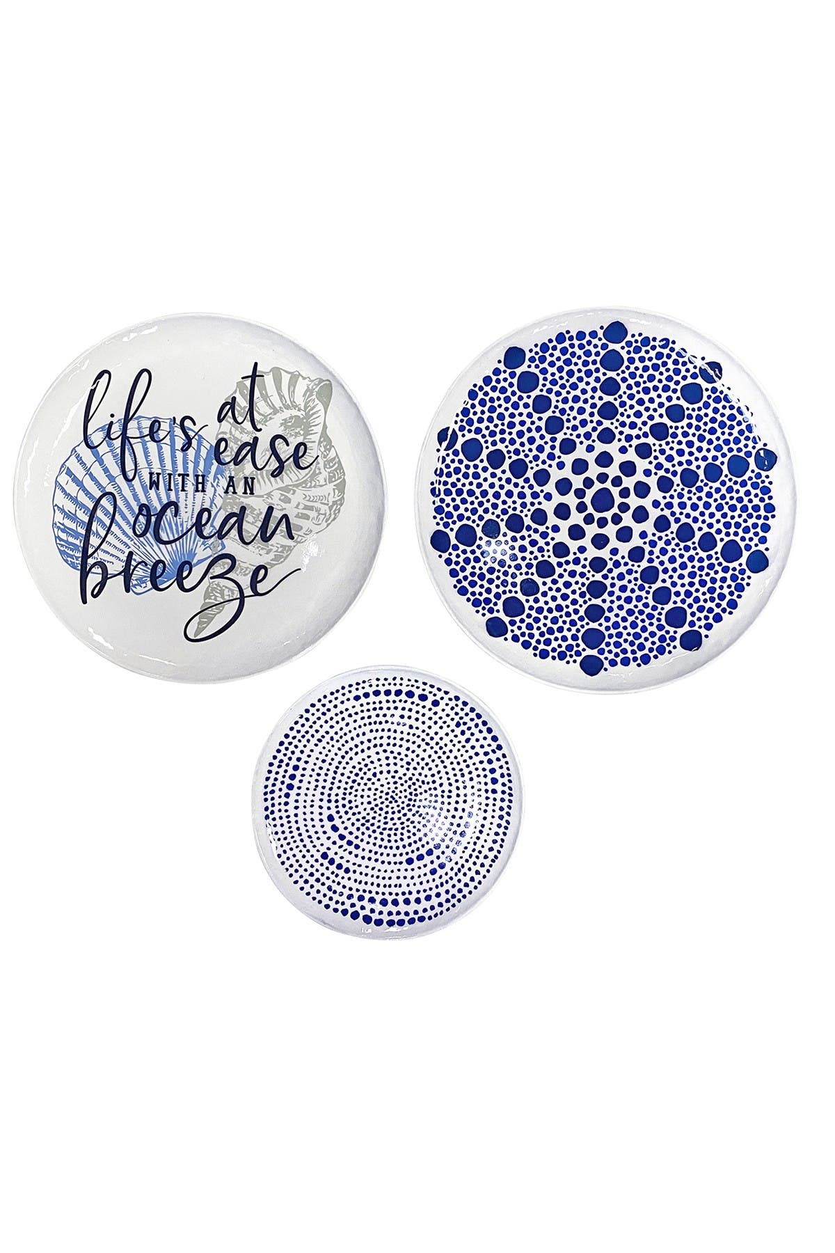 Image of Stratton Home Life's a Breeze Decorative Plates Wall Decor - Set of 3