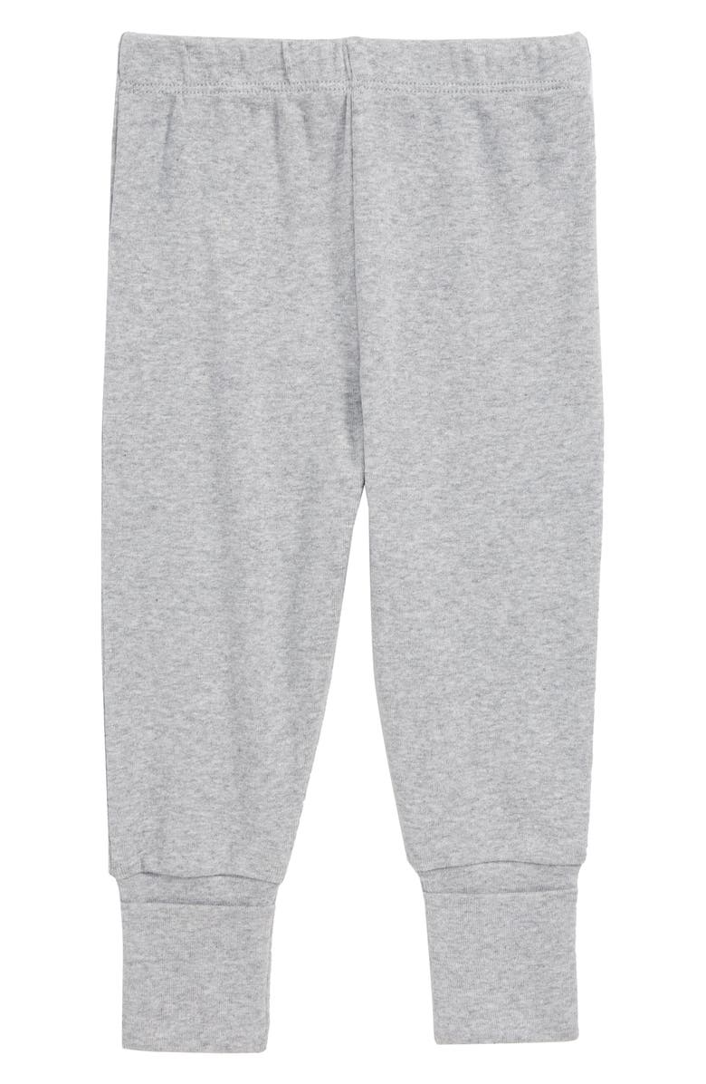 MONICA + ANDY Hello Baby Organic Cotton Sweatpants, Main, color, HEATHER GREY
