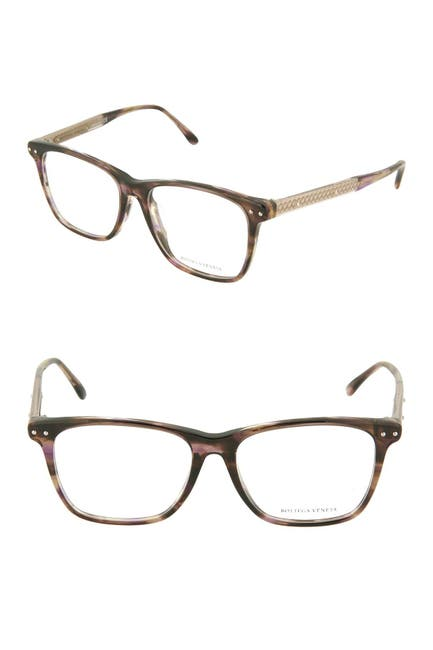 Image of Bottega Veneta 54mm Square Optical Frames