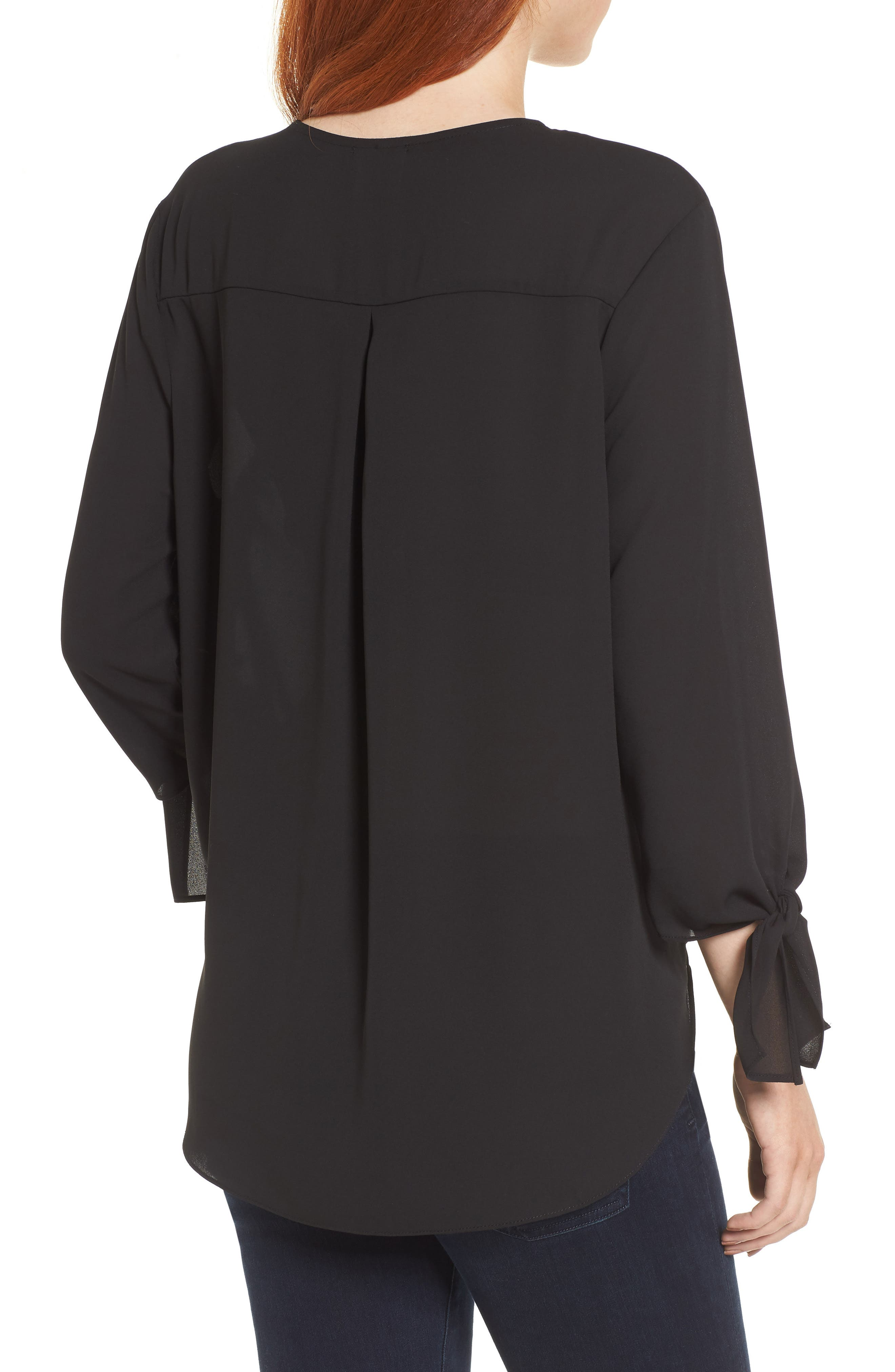 ,                             Surplice Neck Top,                             Alternate thumbnail 2, color,                             001