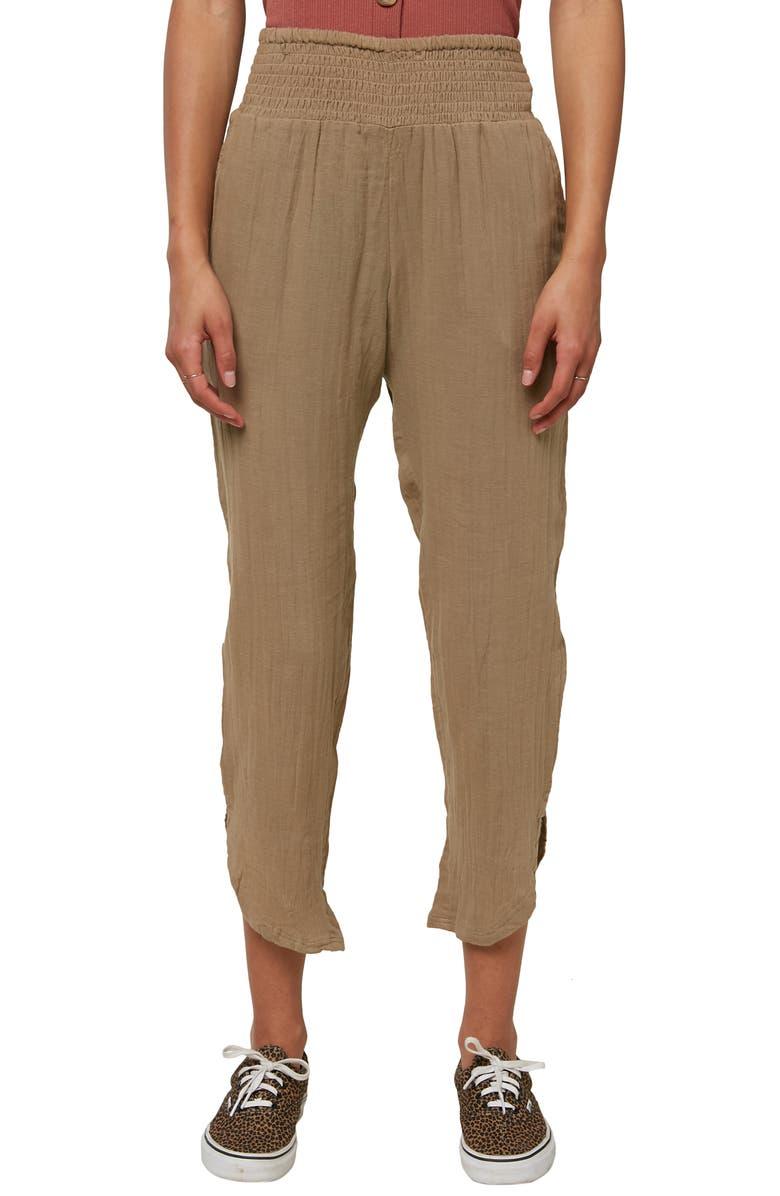 O'NEILL Briggs Cotton Double Cloth Crop Pants, Main, color, KHAKI