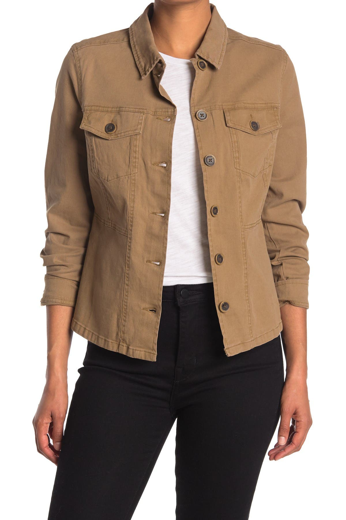 Image of Sanctuary Button Up Stretch Twill Jacket