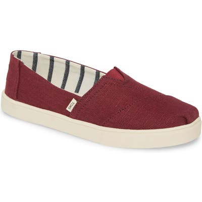 Toms Alpargata Slip-On- Burgundy