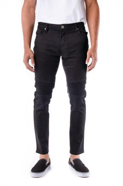 Image of XRAY Standard-Fit Moto Detail Jeans