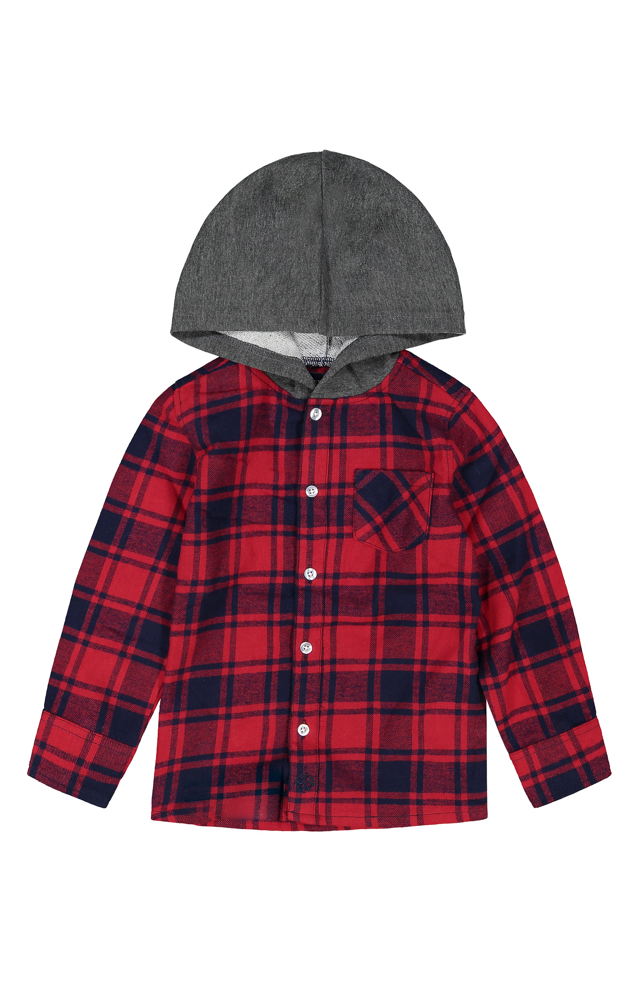 Image of Andy & Evan Button Down Plaid Hoodie