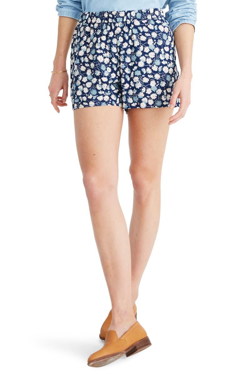 MADEWELL Drapey Pull-On Shorts, Main, color, 400