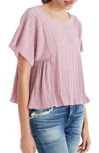 Image of Madewell Pleated Short Sleeve Top