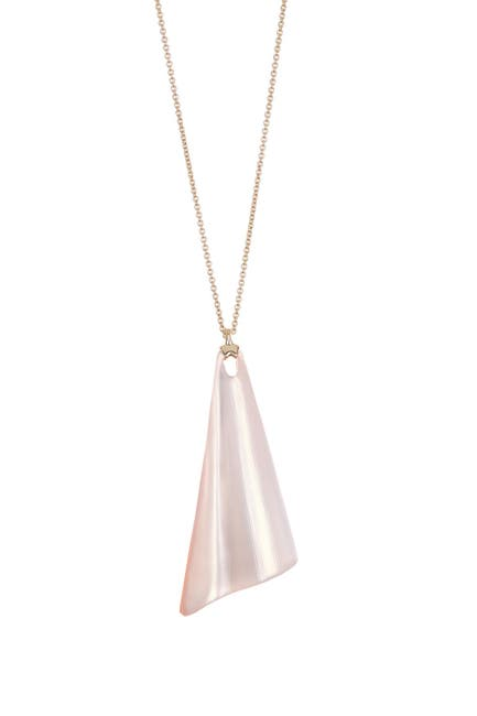 Image of Alexis Bittar 10K Yellow Gold Plated Wavy Fan Pendant Necklace