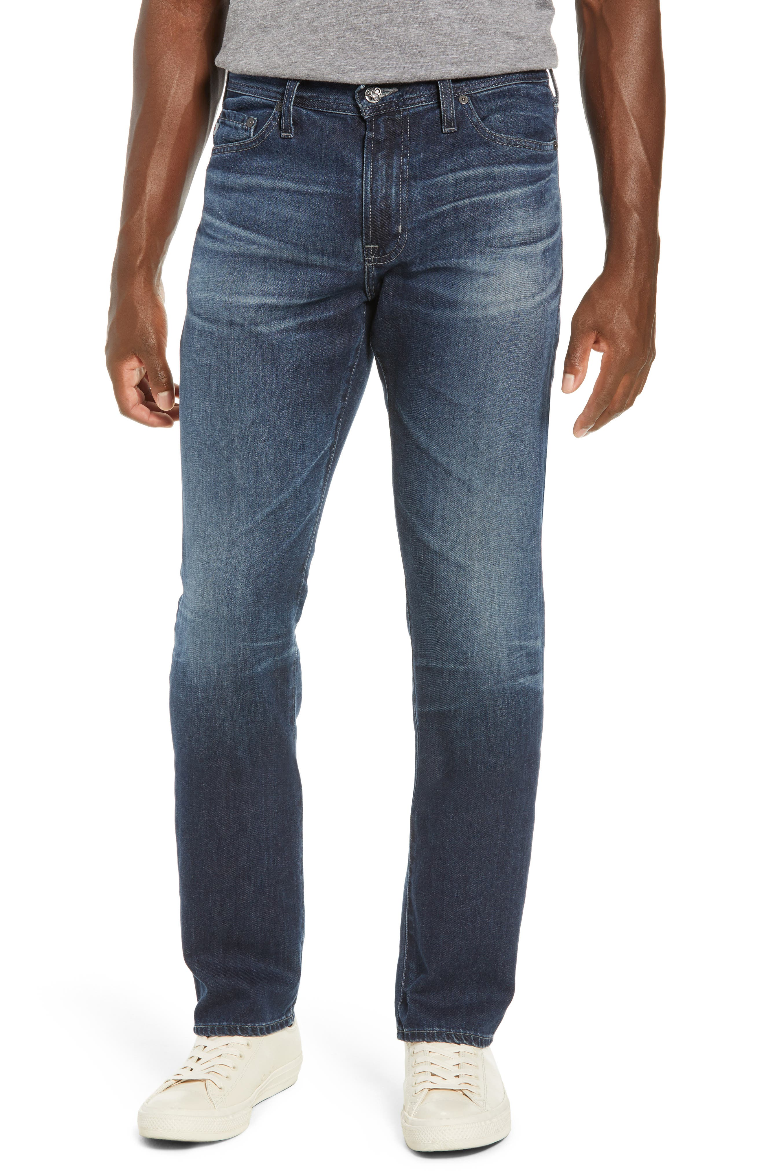 Everett Slim Straight Leg Jeans, Main, color, 400