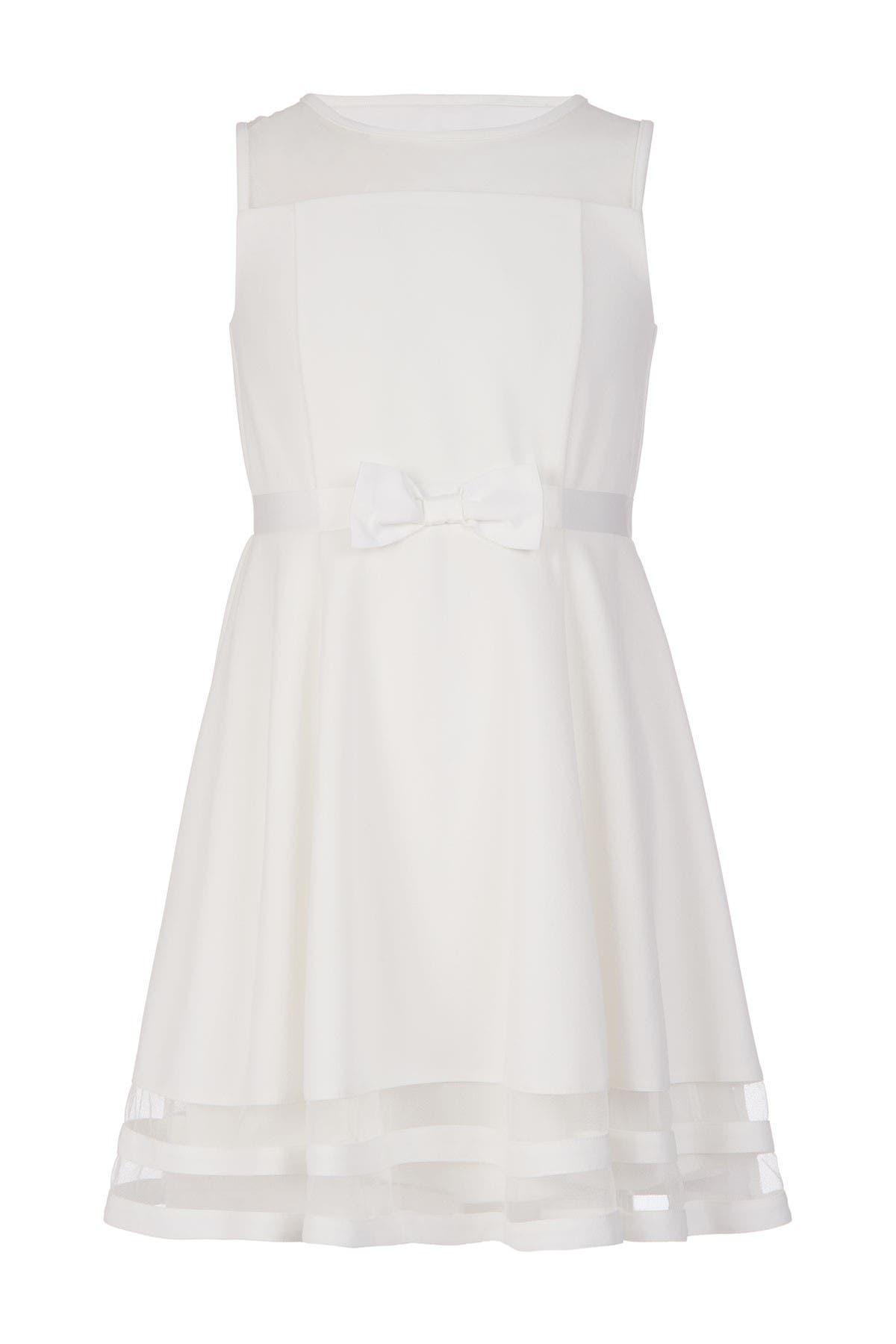 Image of Calvin Klein Illusion Mesh Dress