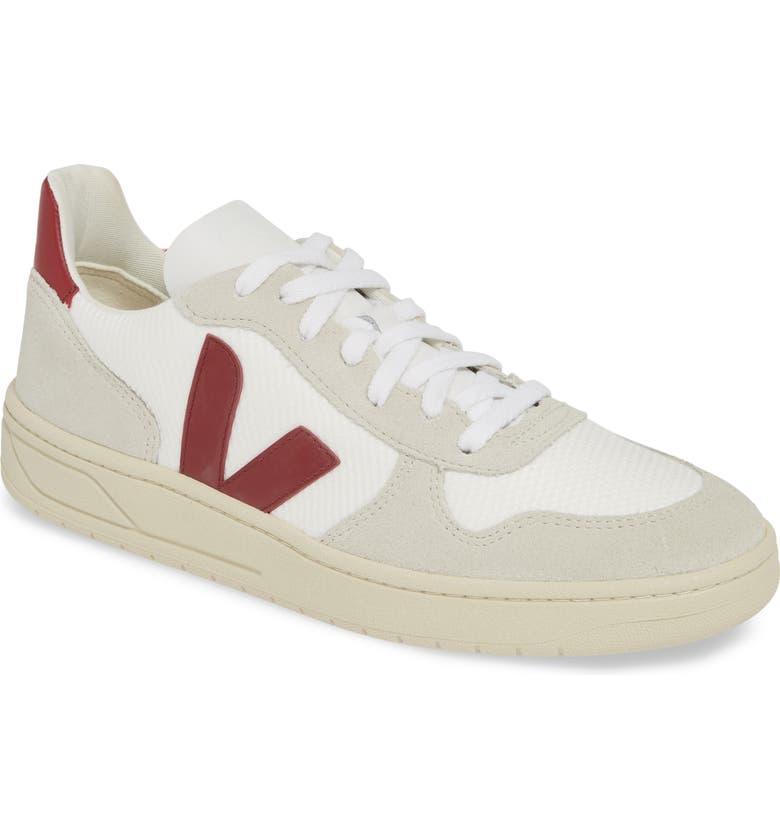 VEJA V-10 Sneaker, Main, color, WHITE/MARSALA