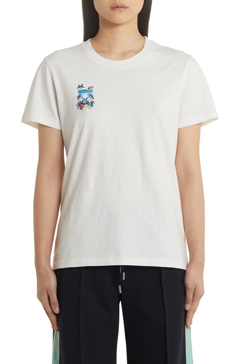 OFF-WHITE De Graft Arrows Casual Tee, Main, color, WHITE BLUE