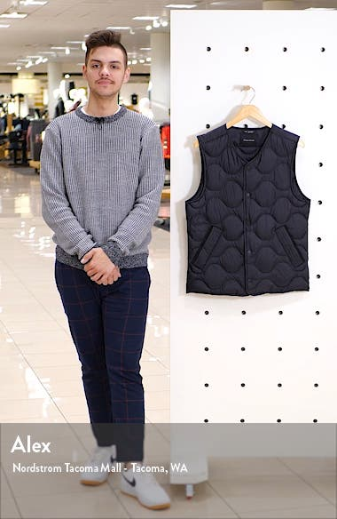 Quilted Ripstop Nylon Down Vest, sales video thumbnail