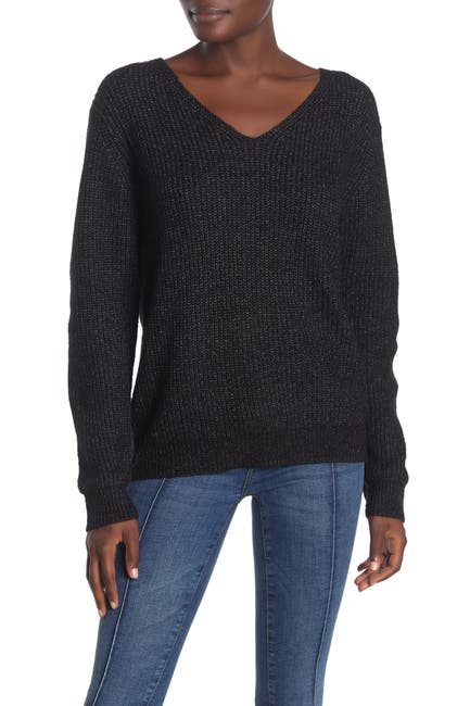 Image of Lumiere Wide V-Neck Sweater