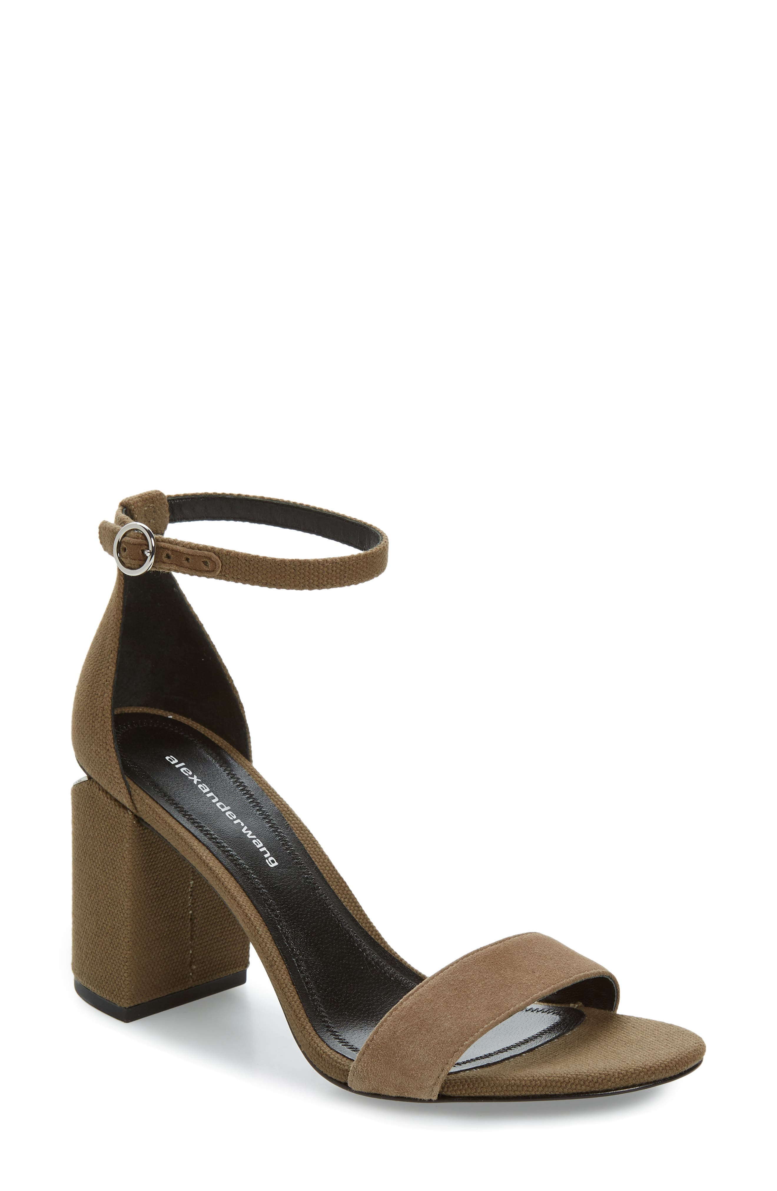 Alexander Wang New Abby Ankle Strap Sandal, Beige