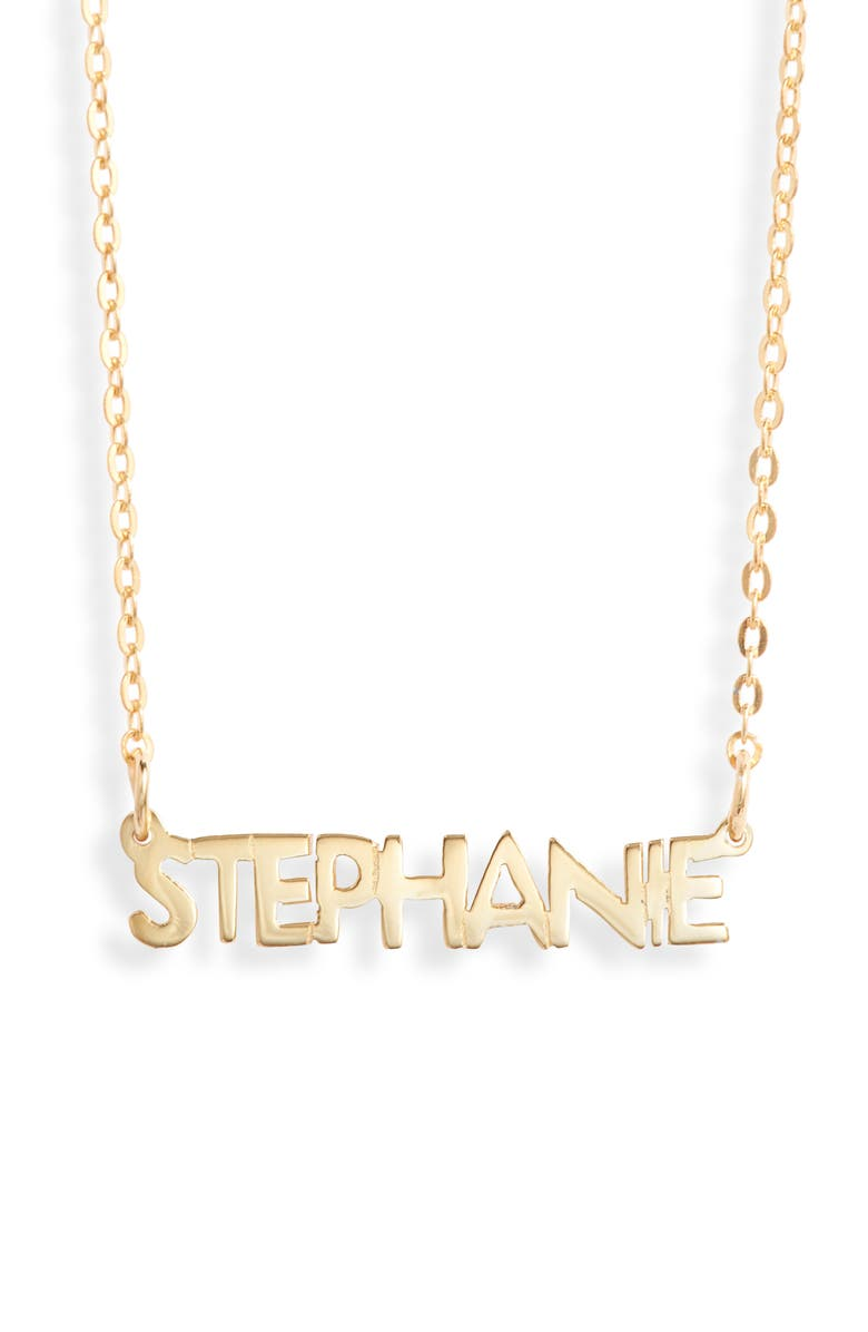 ARGENTO VIVO STERLING SILVER Argento Vivo Small Personalized Name Necklace, Main, color, GOLD