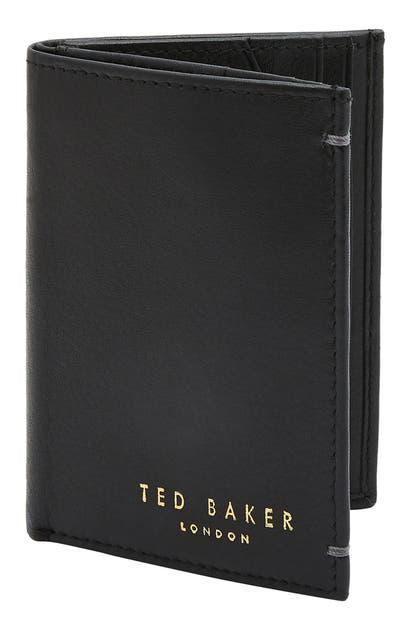 Ted Baker Core Leather Wallet In Black