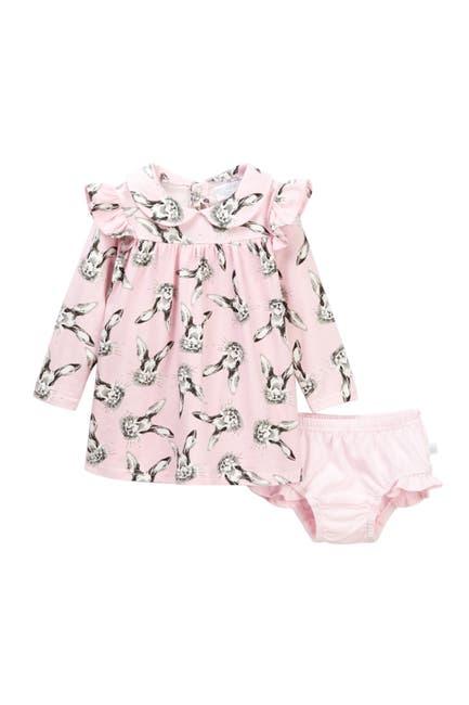 Image of Rosie Pope Bunny Print Dress & Bloomer Set