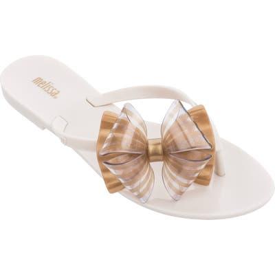 Melissa Harmonic Bow Flip Flop, White