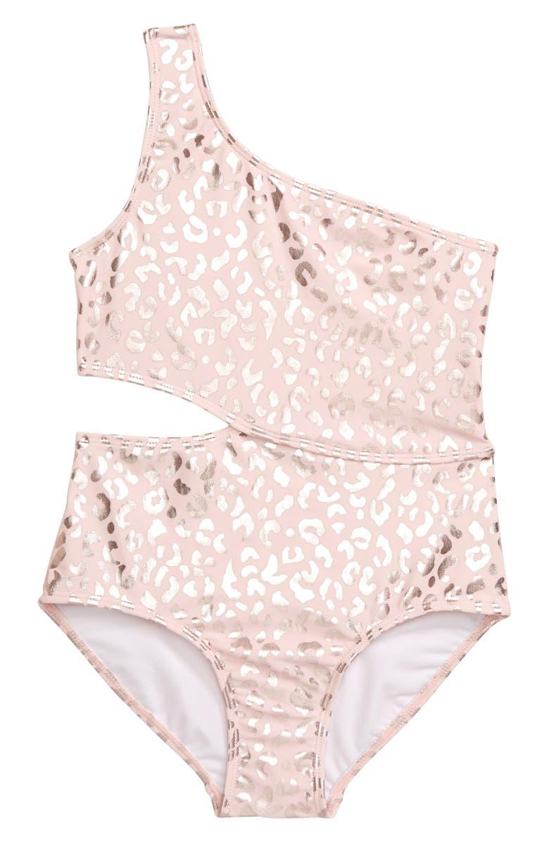 KATE MACK Leopard Spot One-Piece Swimsuit, Main, color, 650
