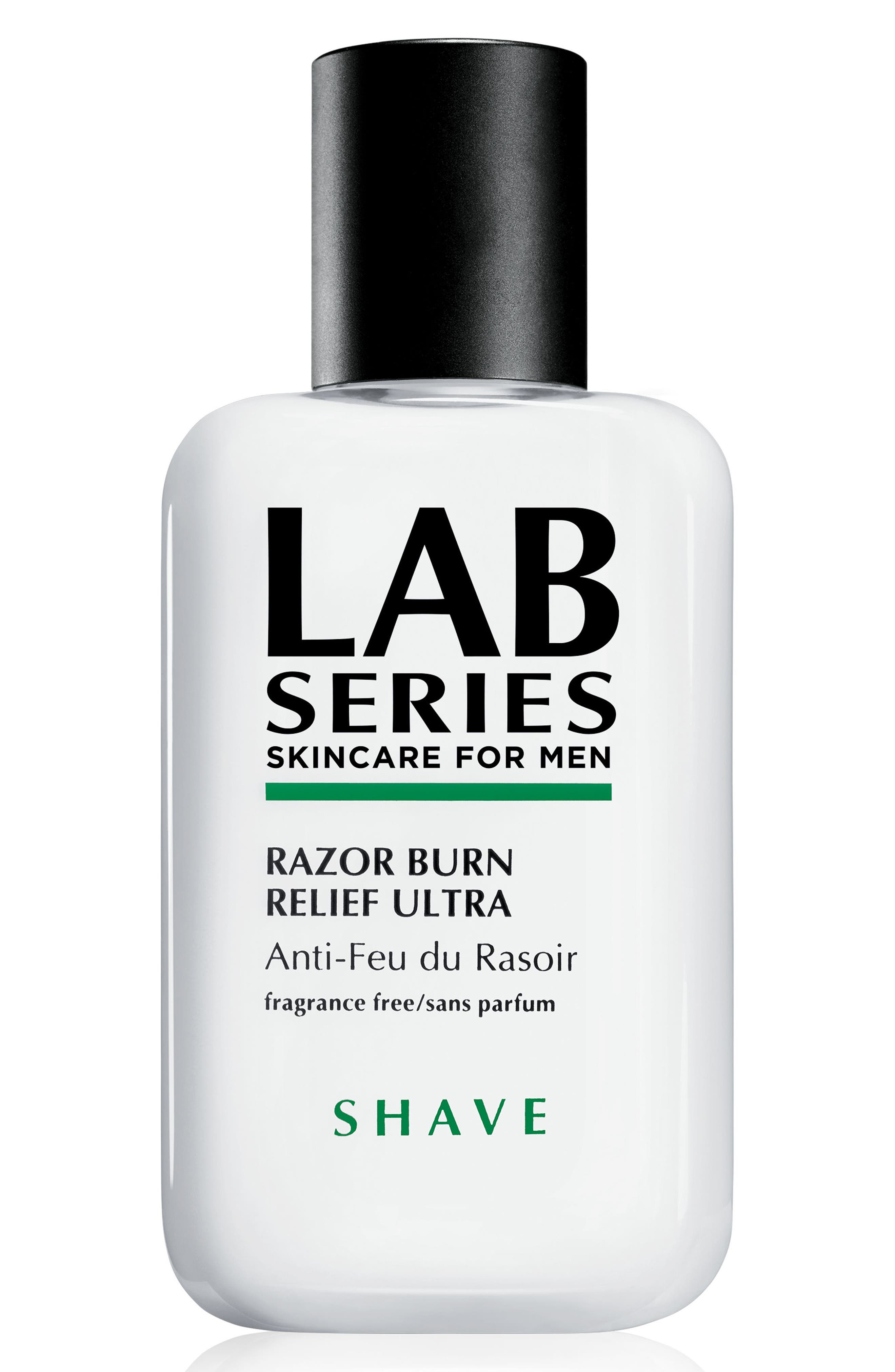 This lightweight soothing lotion by Lab Series Skincare for Men delivers fast relief from razor burn, irritation and redness. It immediately distributes moisture to affected areas, calming the skin and re-building the moisture barrier damaged by shaving. How to use: Use after you shave by applying a small amount with your fingertips in circular motions around shaved areas. Style Name: Lab Series Skincare For Men Razor Burn Relief Ultra. Style