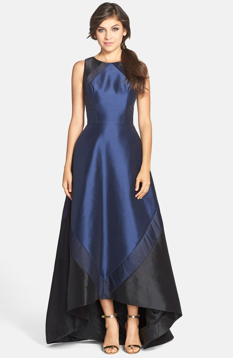THEIA Sleeveless Colorblock Gown, Main, color, 411
