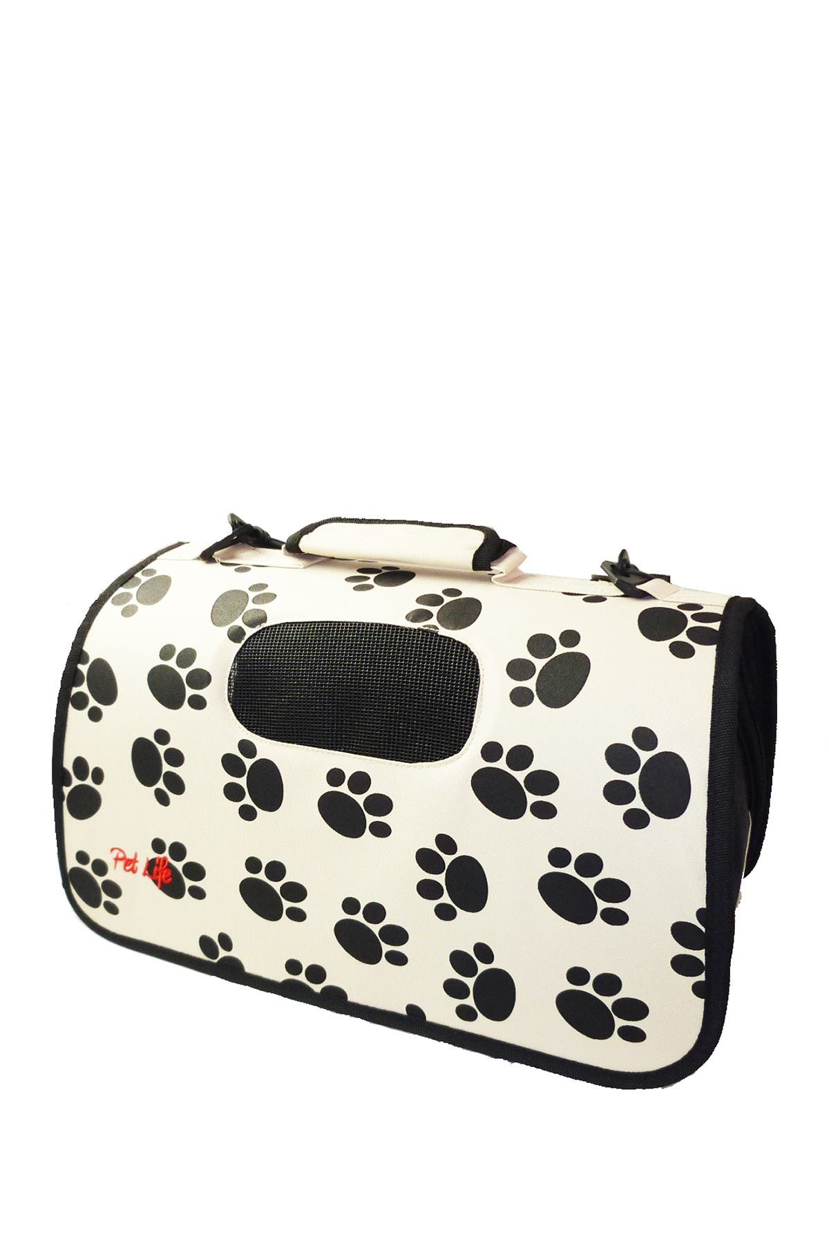 Image of PETKIT Paw Print Airline Approved Folding Zippered Sporty Cage Pet Carrier