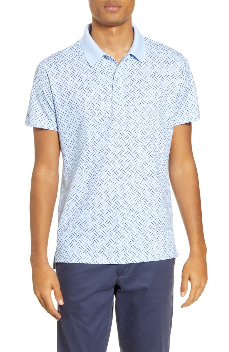 BONOBOS Slim Fit Performance Polo, Main, color, SKY BLUE GOLF TEE GEO