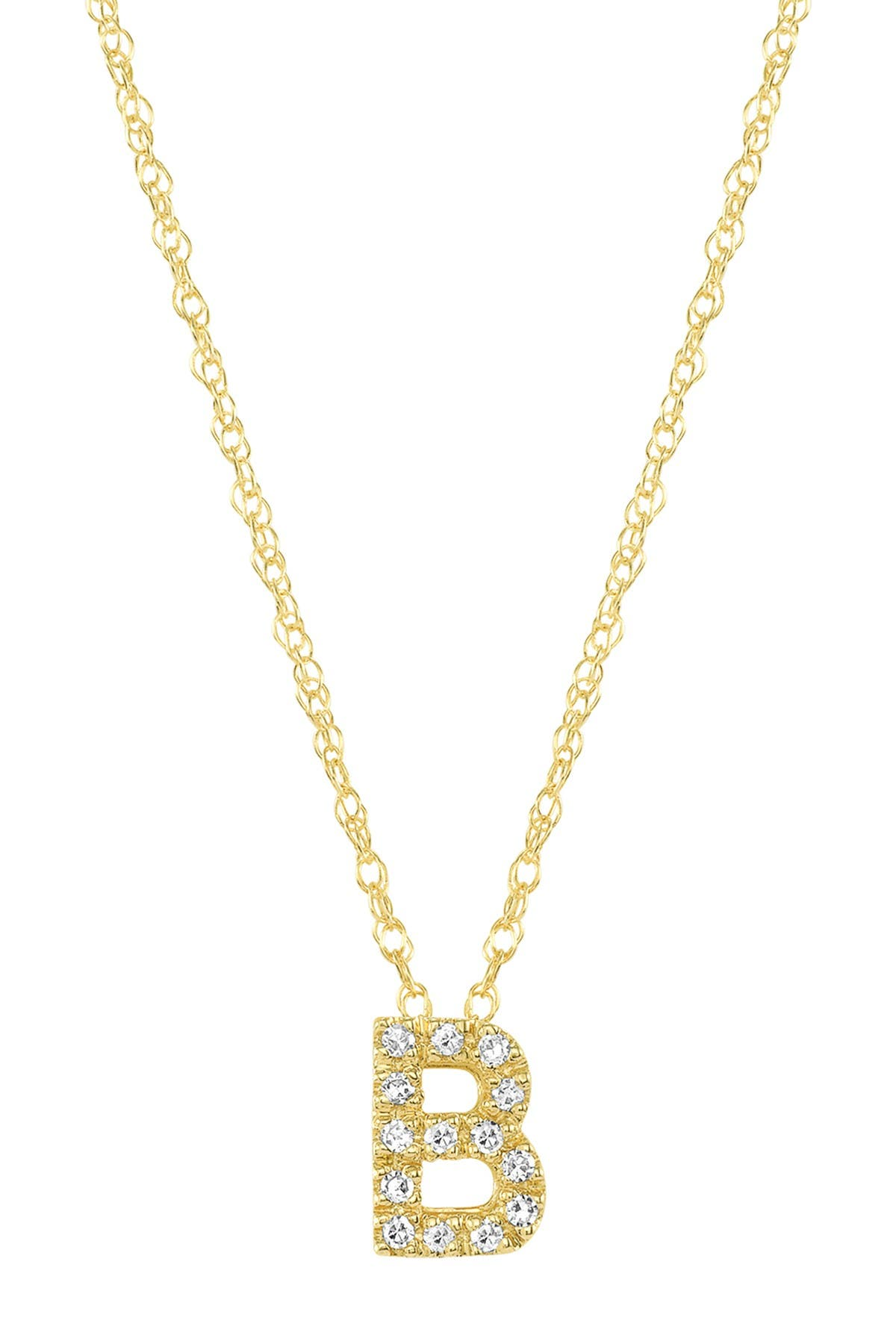 Image of Ron Hami 14K Yellow Gold Diamond Initial Slider Pendant Necklace - 0.03 ctw - Multiple Letters Available