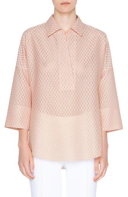 Image of Akris punto Kimono Sleeve Dot Lace Blouse