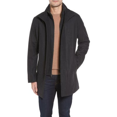 Cole Haan Melton Wool Blend Coat, Grey