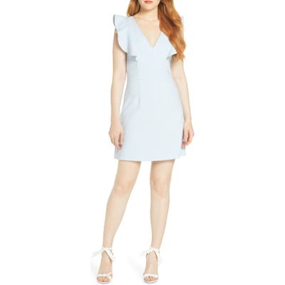 French Connection Whisper Ruffle Minidress, Blue