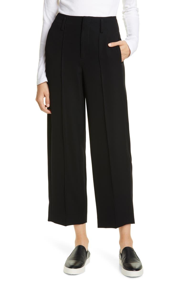 VINCE Wide Leg Crop Pants, Main, color, 001