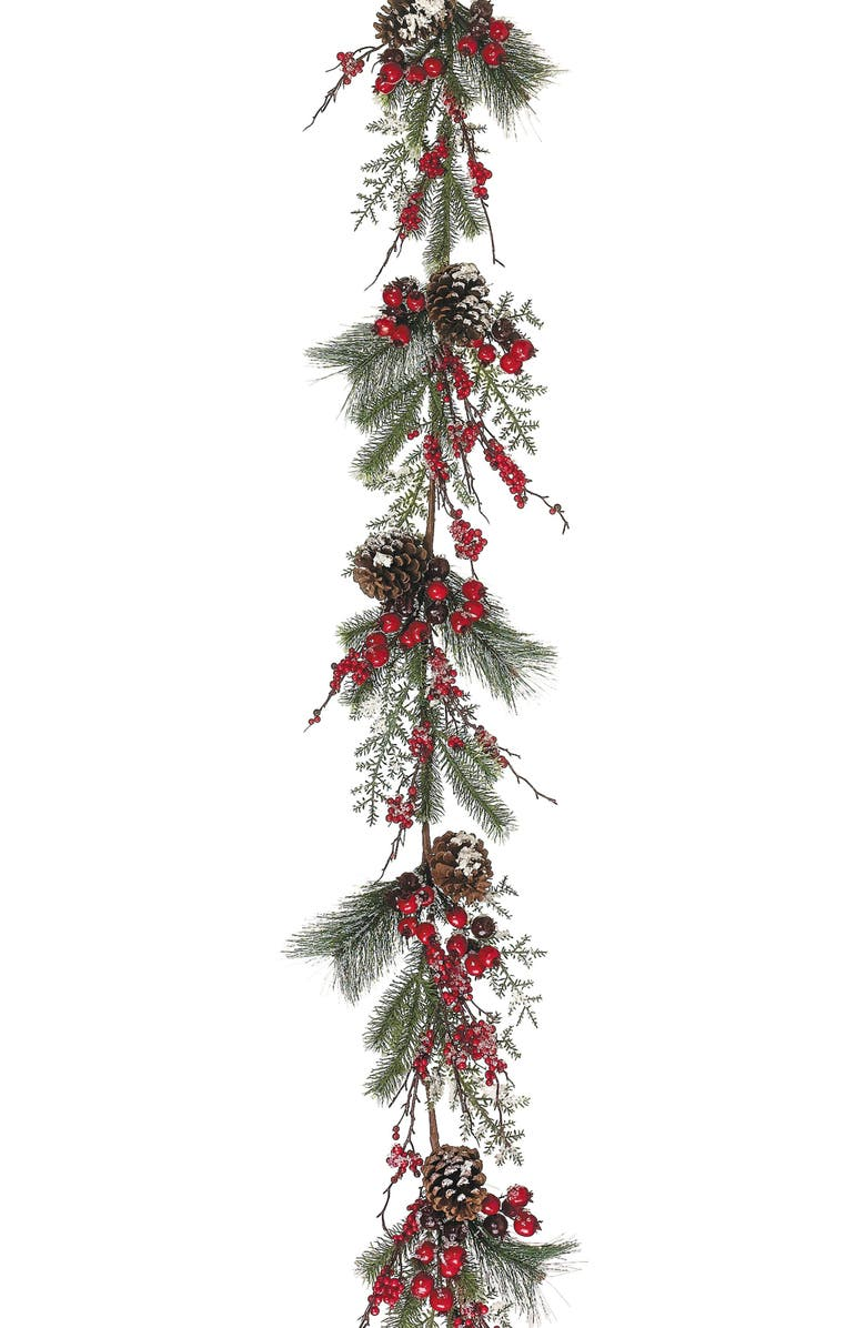 ALLSTATE Berry & Cone Pine Garland, Main, color, 600